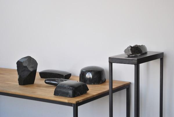 Michal Janiga stone sculpture Norway larvikite